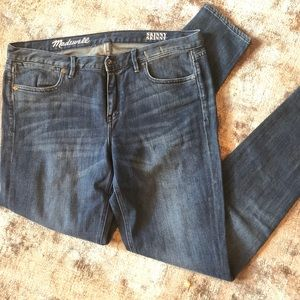 Madewell Medium Wash Skinny Skinny Jeans 32x32
